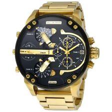 Neu Diesel DZ7333 Mr. Daddy 2.0 4-Time Zone Gold Chronograph Herren Uhr
