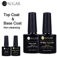 UR SUGAR 7.5ml Base Coat No Wipe Top Coat Color Gel Nail Polish Soak Off Varnish