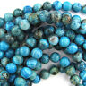 """Blue Crazy Lace Agate Round Beads Gemstone 15.5"""" Strand 4mm 6mm 8mm 10mm12mm"""