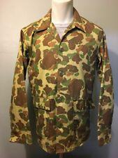 Vtg 50s 60s Camo Pattern Shirt Jacket Mens M-L Hunting Military Frog Skin Style