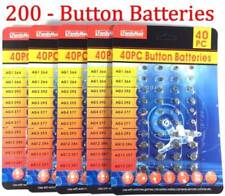 200 Assorted Alkaline set Button Batteries Coin Cell Watch Calculator Electronic