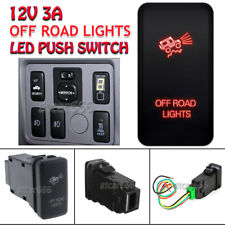 OFF ROAD LIGHTS 12V 3A RED LED Push Switch For Toyota Tacoma Hilux Camry 4Runner