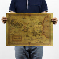 treasure map kraft paper bar poster retro decorative painting wall sticker new.