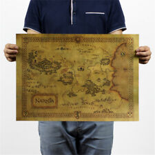 treasure map kraft paper bar poster retro decorative painting wall sticker