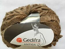 Gedifra Antiga #3104 Cocoa Brown Acrylic Nylon Mohair Wool Blend Yarn 50gr 43yds