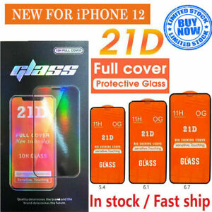 21D Tempered Glass Screen Protector For iPhone 12/iPhone 12 MINI/ Pro/ Pro Max