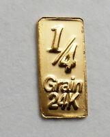1/60th gram gold pure 24k investment fractional gold 999 FINE bullion bar DA1b