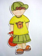 Zoo Boy Monkey Shirt Bag Peanuts RETIRED 2005 My Mind's Eye Die Cut