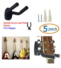 5-PACK Guitar Hanger Hook Holder Wall Mount Display Acoustic Electric, GRA