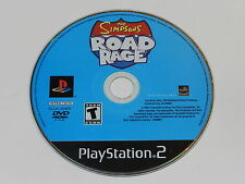 The Simpsons Road Rage Sony Playstation 2 PS2 Video Game Disc Only