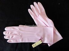 Abolladuras noche rosa pastel/guantes de boda talla única BNWT