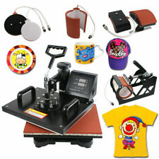 Mug Hat 5 in 1 Dual Digital Transfer Sublimation Heat Press Machine for T-Shirt