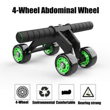 4 Wheels AB Abdominal Roller Workout Exercise Fitness Equipment Machine Home Gym