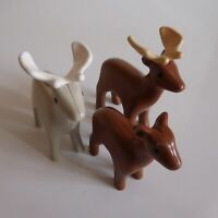 3 figurines élan cerf chevreuil PLAYMOBIL animal sauvage jouet collection N5139