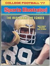 Sports Illustrated 1977 ROSS BROWNER Notre Dame College Football Preview NoLABEL