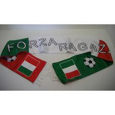 """Sciarpa""""forza ragazzi"""" tricolore Italia, Calcio Mondiali d18310"""