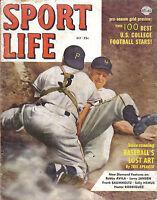 1952 (Oct.) Sport  Life, baseball, magazine, Whitey Lockman, New York Giants