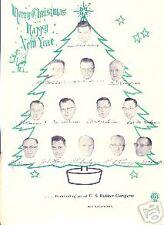 1955 Christmas Letter Eau Claire Wis Gillette Tires US