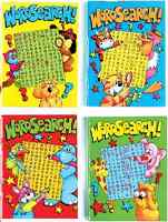 SET OF 4 x A6 PARTY BAG FAVOUR SIZE 64 PAGE JUNIOR KIDS WORDSEARCH BOOKS 2095