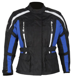 SPADA CORE MOTORCYCLE JACKET BLACK/BLUE LADIES ALL SIZES
