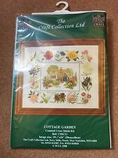 High Quality Classic Cottage Garden Cross Stitch Kit 50cm X 40cm