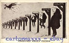 WW1 WWI Propaganda - Scapin - Traditori della Patria, Giolitti - Satirica -PV107