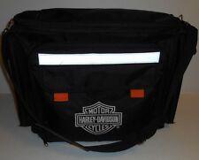 Harley Davidson Insulated Cooler Black Travel Biking Bag With Picnic Set for 2