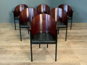 Attractive Set Of 6 Six Art Deco Style Dining Cafe Chairs
