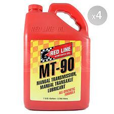 Red Line MT-90 75W90 GL-4 Manual Transmission Gear Oil 4 x 1 US Gallon