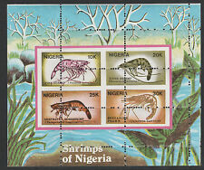 Nigeria (298) 1988 Shrimps  m/sheet MAJOR  PERF  ERROR unmounted mint