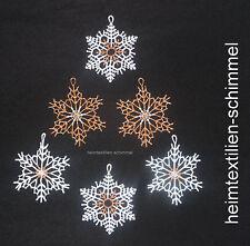 PLAUENER SPITZE ® 6er Fensterbild WINTER Baumbehang SCHNEEFLOCKE Weihnacht Stern