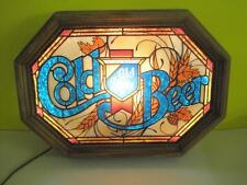 """VINTAGE OLD STYLE BEER SIGN HEILEMAN COLD BEER 21""""X15"""" SCHUTZ 25AE LIGHTED LIGHT"""