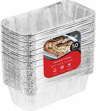 Stock Your Home 8x4 Aluminum Loaf Pans (50 Pack) - 2 lb Bread Tins
