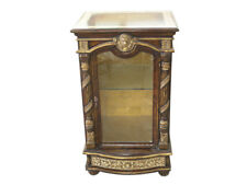 Antique Style Carved Lion Accent Wood/Glass Display/Jewelry Cabinet,23'' x 38''H