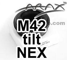 M42 Lens  to SONY NEX CameraCamcorder. 8° TILT Adapter. Arax Warranty!