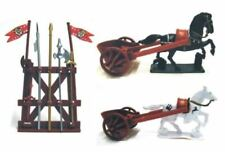 ROMAN CHARIOT SET 2 CHARIOTS 2 HORSES 1 WEAPONS STAND NEW 1/32 TOY SOLDIERS