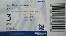 TICKET Niederlande 2017/18 SC Heerenveen - AZ Alkmaar