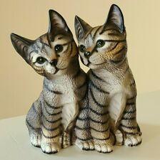 New ListingHarvey Knox Tabby Cat Pair Figurine