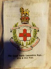 Vintage Tobacco silk silks Loyal North Lancashire Regiment