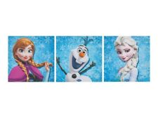 Set Of 3 Square Frozen Canvas Girls Bedroom Decoration Anna Elsa Pictures