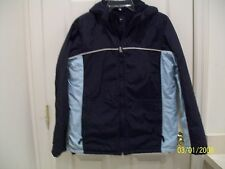 ABERCROMBIE & FITCH - BLUE FRONT ZIP FLEECE LINED WINTER JACKET - SMALL - EUC