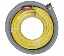 Bush Fire Hose Pump Kit Clear Suction Hose 40mm x 5m Fitted Complete
