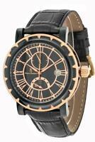 PIERRE BONNET orologio uomo 4248 automatico nero elegante vintage 50 60 datario