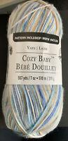 Loops & Threads Cozy Baby Sierra Weight (3) 557 Yards Blue, Beige, White
