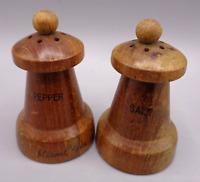 Vintage Wood Salt Pepper Shakers, Miami, Florida Wooden Souvenir Chess Pawns