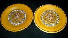 Palissy ROYAL WORCESTER BEAUVAIS 72 Brown/Orange Retro 6 1/4 inch Plate x2 c1970