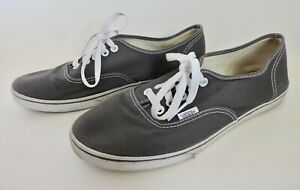 VANS Mens Sz 8.5 Women Sz 10 Gray Canvas Skateboard Sneaker Lace Up Shoes 72178