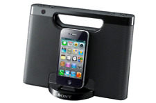 Sony Portable Audio Speaker Dock & wireless remote iPhone iPod stereo music