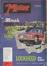 Motor magazine 13/7/1960 featuring Austin Healey 3000 Hardtop road test
