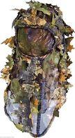 Lightweight 3D Leafy Light Leaf Oak Camo Ghillie Balaclava & Mesh Face Mask Veil